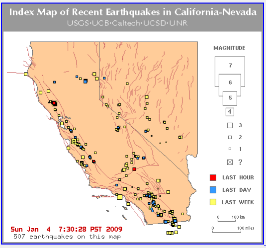 recent earthquakes in california. Recent Earthquakes in