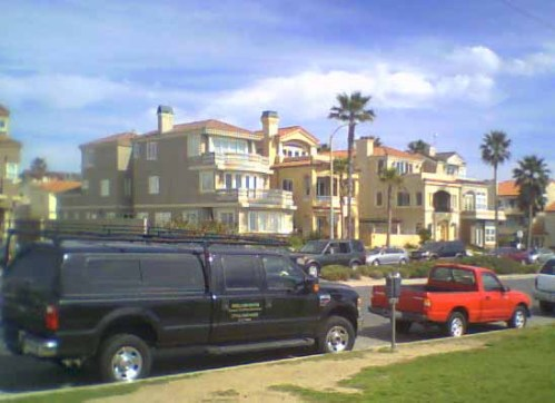 Photo taken by Jeremy in Southern California showing empty townhouses