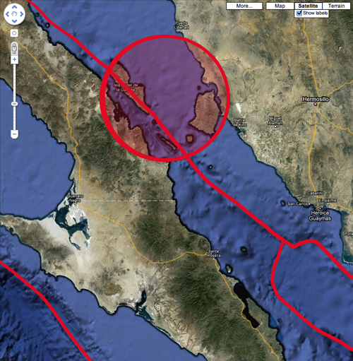 6.9 Baja California earthquake