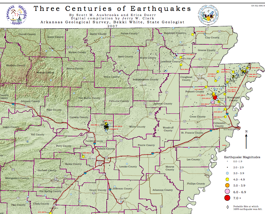Arkansas Fault Lines Map Swimnovacom - Fault line map us