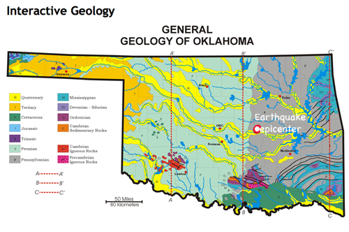 Oklahoma Fault Line Map Amazing Oklahoma Fault Lines Map Galleries   Printable Map   New  Oklahoma Fault Line Map