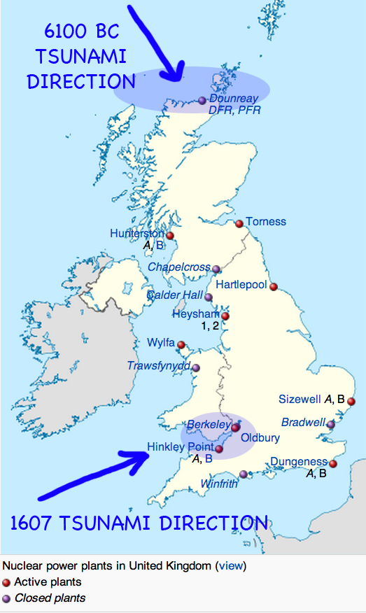 Two British Nuclear Power Plants Where 1607 Tsunami Hit Culture: Uk Nuclear Plants Map At Infoasik.co