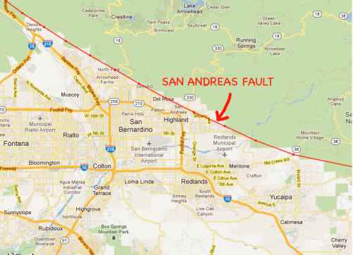 We Visit The Doomed Homes On The San Andreas Fault Culture Of - San andreas fault map with cities
