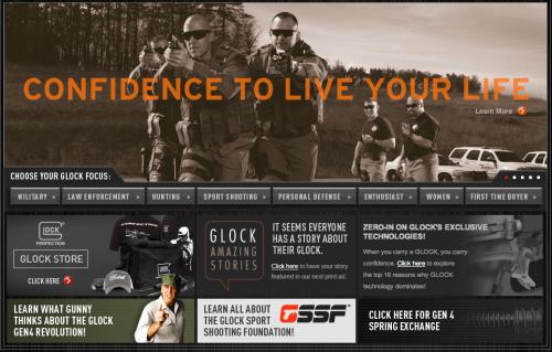 Glock gun web site