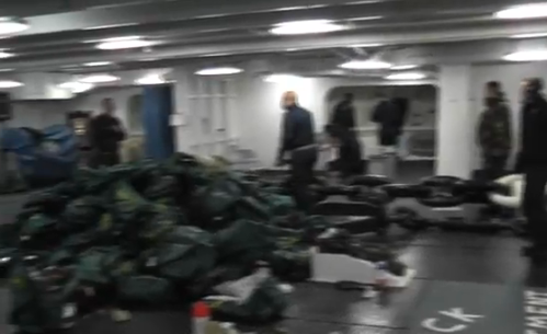 USS Reagan staff jokes about radioactive poisoning