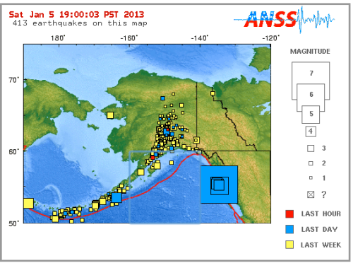 This week's Alaska earthquake with new USGS map