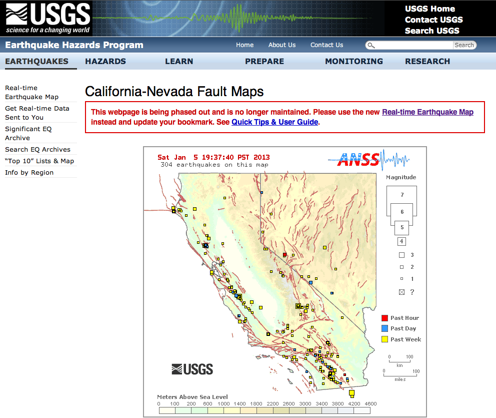 Site Map Example In Word: GOP Budget Cuts Force USGS To End Their Very Informative