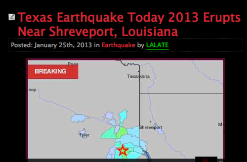 texas earthquake