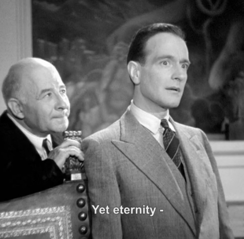 1944 French movie about a Devil's Hand.  The artist is being tempted by the Devil to make a bad deal so he can be rich and famous.