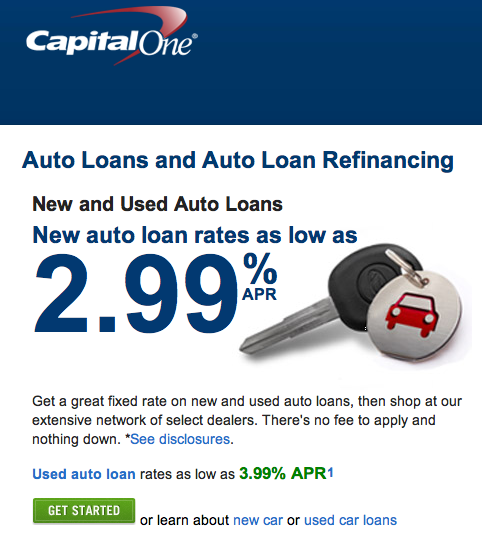 Captial One Car Loan Rates