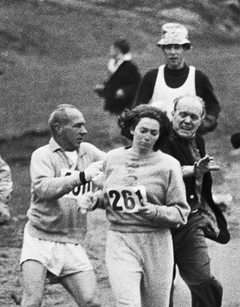 Katherine Switzer assaulted at Boston Marathon 1967