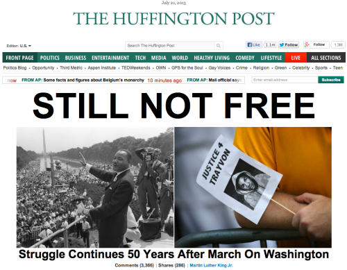 Huffington Post exaggerates race issues