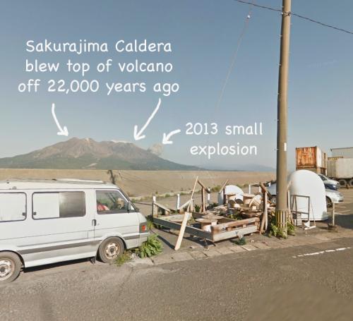 Sakurajima volcano top blown off