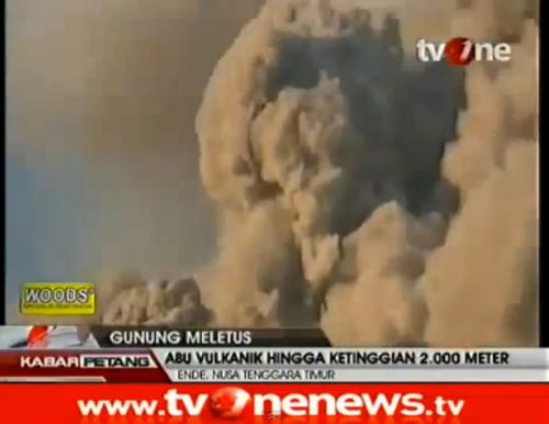Mt. Rokatenda volcano erupts