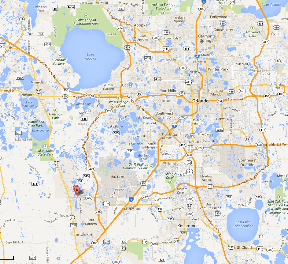 Disneyarea Hotel Complex Collapses Into Florida Sinkhole - Map of florida orlando area