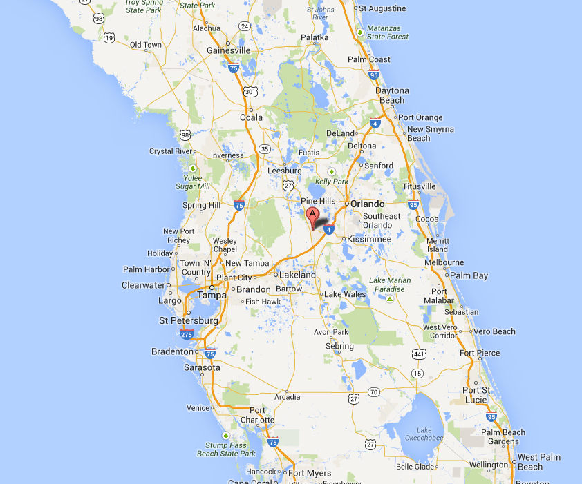Disneyarea Hotel Complex Collapses Into Florida Sinkhole - Map of florida lakes