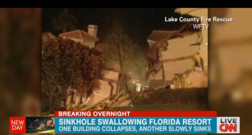 Orlando resort falls into sinkholes