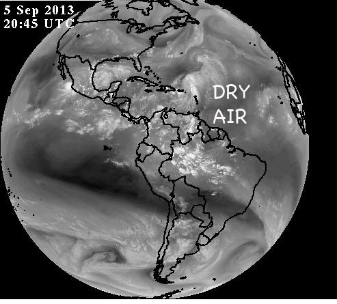 Dry air persists over Atlantic hurricane zone