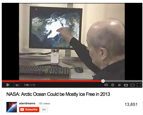 NASA predicts no arctic ice sheet by 2013