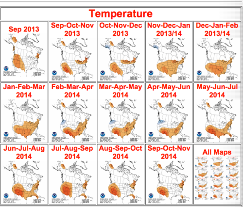 NOAA predicts warm year ahead