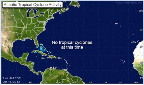 no hurricanes in Atlantic