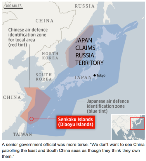 Japan claims Russian territory unilaterally