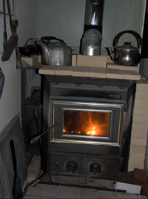my evil coal burning stove running hot on very cold day