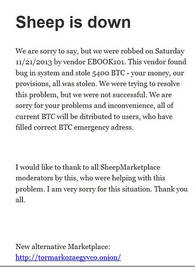 bitcoin sheep market scam
