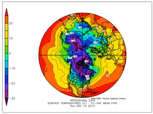cold north winter 2013