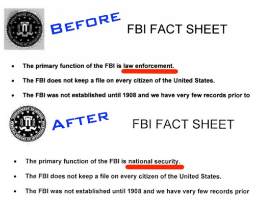 FBI no longer is about enforcing laws