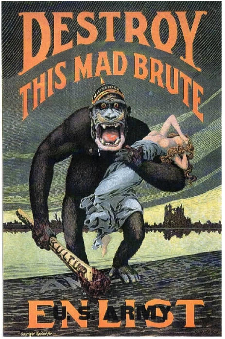 WWI recruiting poster destroy this brute
