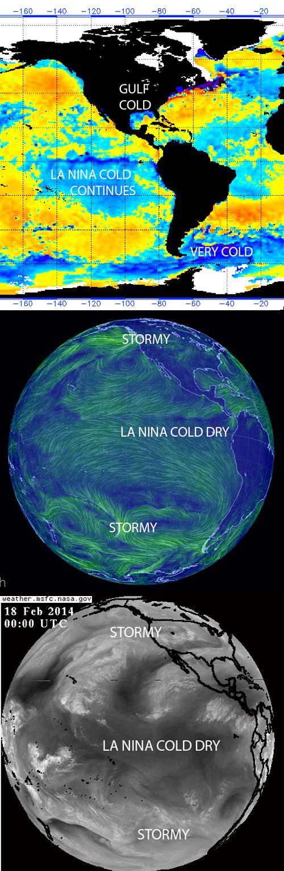 La Nina cold Pacific Ocean