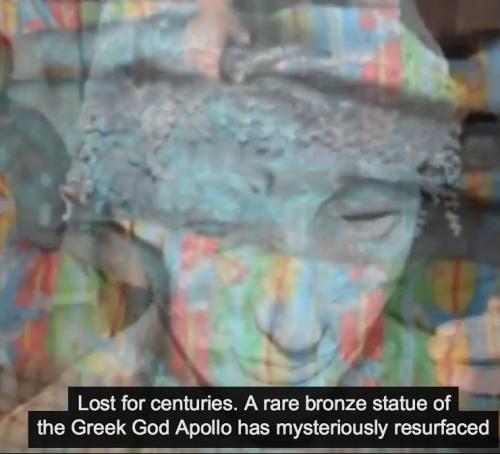 bronze Apollo statue found in Gaza