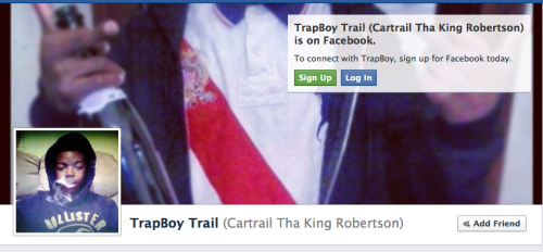 13 year old wannabe gangsta boy killed  Cartrail tha King Robertson