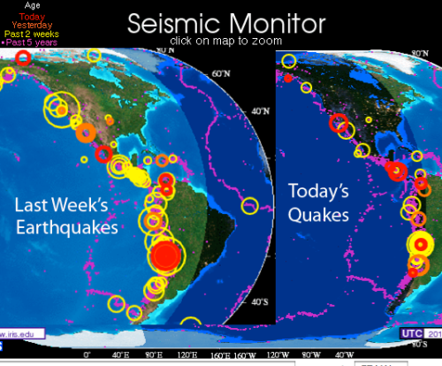 Earthquake activity on West Coast rising rapidly March 2014