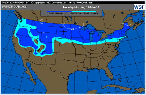 freeze map March 10, 2014