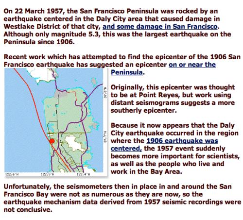 San Francisco 1957 San Andreas Earthquake