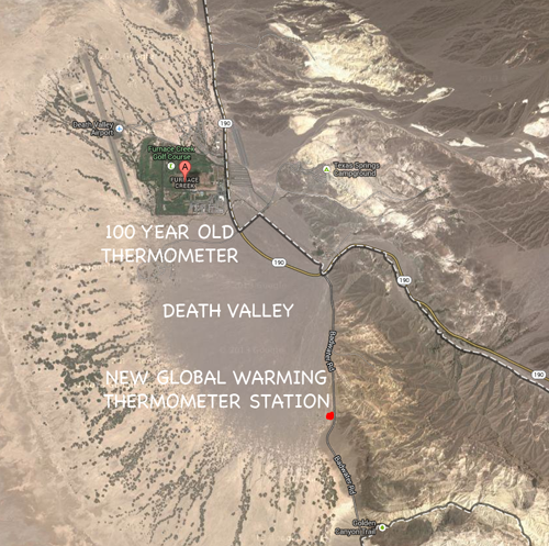death valley thermometer stations