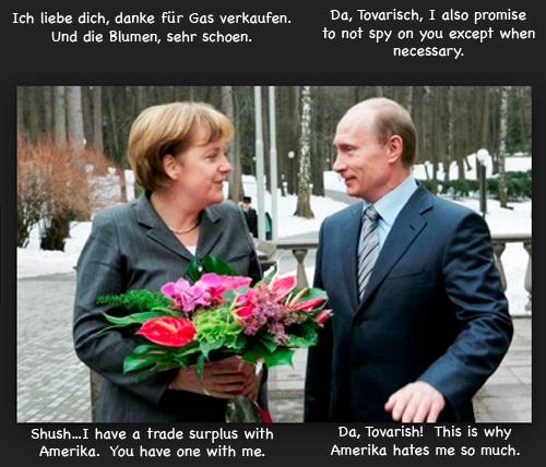 Putin and Merkel get engaged
