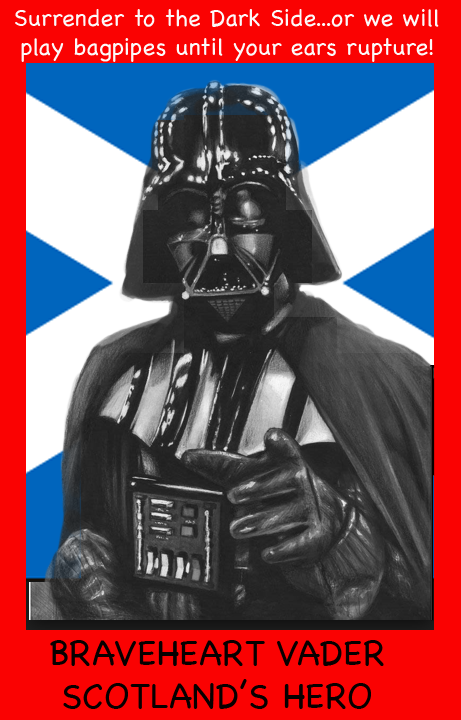 scotland darth vader bagpipes