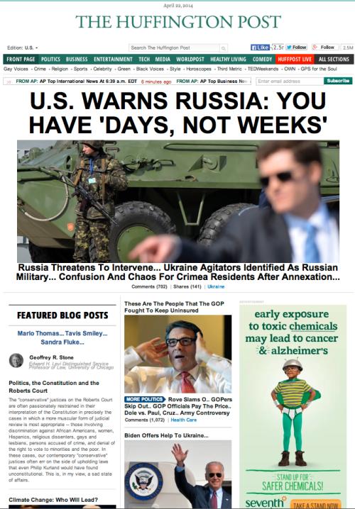 huffington post is biggest war monger media