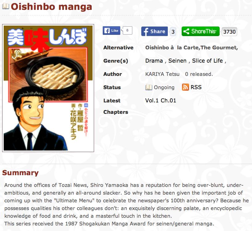 Oishinbo Gourmet Reporter Manga Censored By Abe For