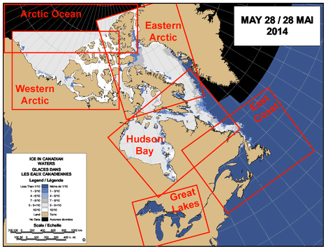 hudson bay and arctic still frozen solid late May 2014