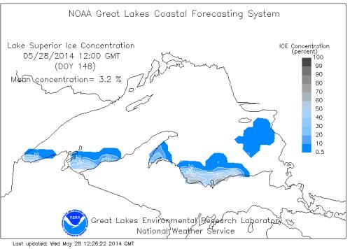 NOAA Great Lakes ice May 27 2014