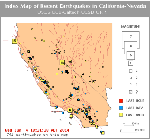 June 4 2014 earthquakes california