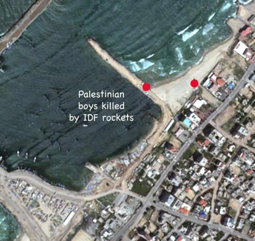 Gaza Palestinian boys killed by IDF rockets