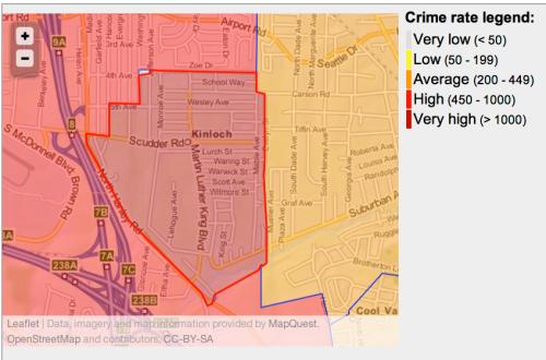 high crime neighborhood in Ferguson MO
