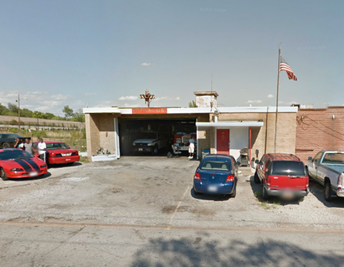 lonely fire station in ferguson MO