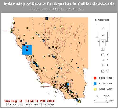 6.0 earthquake Napa Valley 2014