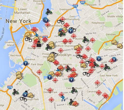 Brooklyn gun crimes 2014 one week statistics